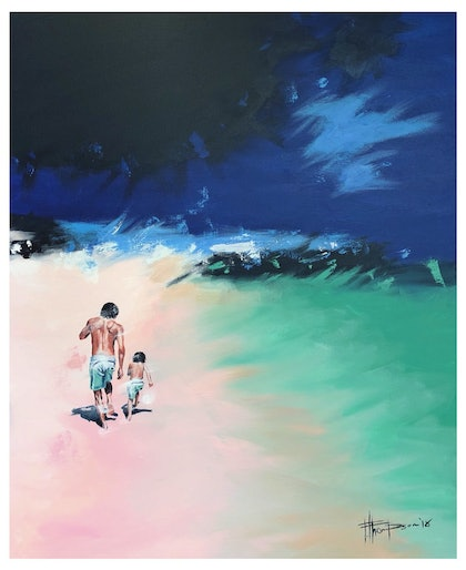 (CreativeWork) Towards the Rocks by Fred Thompson. arcylic-painting. Shop online at Bluethumb.