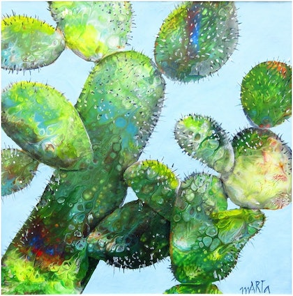 (CreativeWork) A Little Bit Prickly by Marta Blaszak-Just. mixed-media. Shop online at Bluethumb.