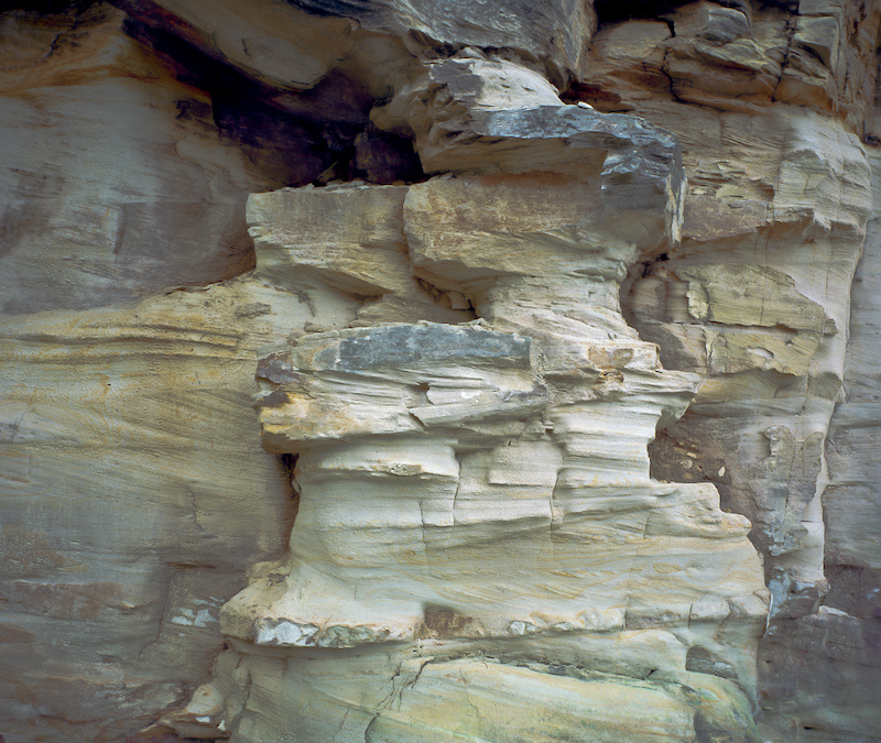 (CreativeWork) Sandstone Abstraction  by Gary Sauer-Thompson. photograph. Shop online at Bluethumb.