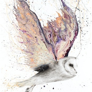 (CreativeWork) Heart Winged Owl - Limited Edition Print - Ed. 4 of 100 by Ashvin Harrison. print. Shop online at Bluethumb.