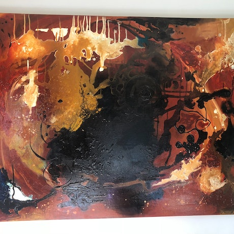 (CreativeWork) Fire light by Bonnie Hope. Mixed Media. Shop online at Bluethumb.