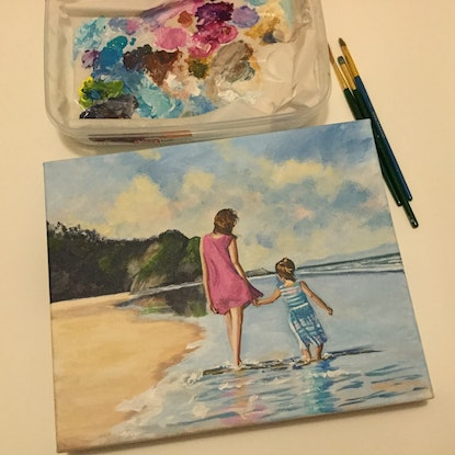 (CreativeWork) Beach Bliss  by Robyn Gray. Acrylic. Shop online at Bluethumb.