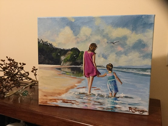 (CreativeWork) Beach Bliss  by Robyn Gray. Acrylic Paint. Shop online at Bluethumb.