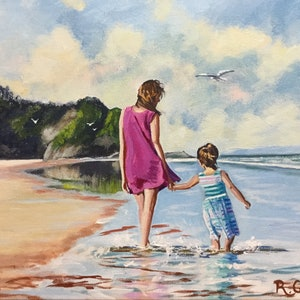 (CreativeWork) Beach Bliss  by Robyn Gray. arcylic-painting. Shop online at Bluethumb.