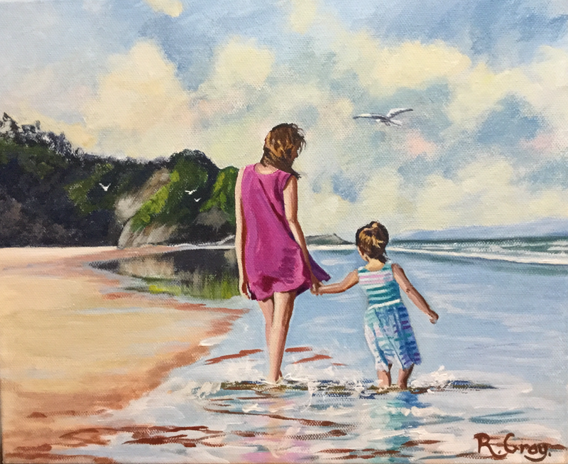 (CreativeWork) Blissful Moments by Robyn Gray. arcylic-painting. Shop online at Bluethumb.