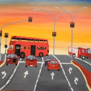 (CreativeWork) INTERSECTION by Ralph Coles. oil-painting. Shop online at Bluethumb.