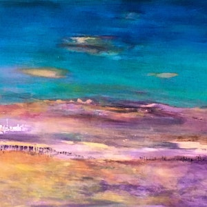 (CreativeWork) Morocco 2 by helene hardy. arcylic-painting. Shop online at Bluethumb.