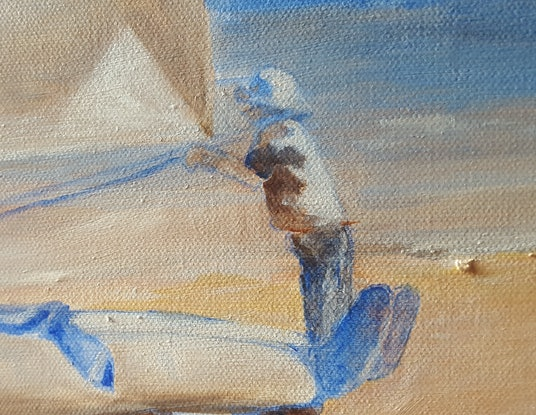 (CreativeWork) Seacliff Sailing by Kathryn Gruber. Acrylic Paint. Shop online at Bluethumb.