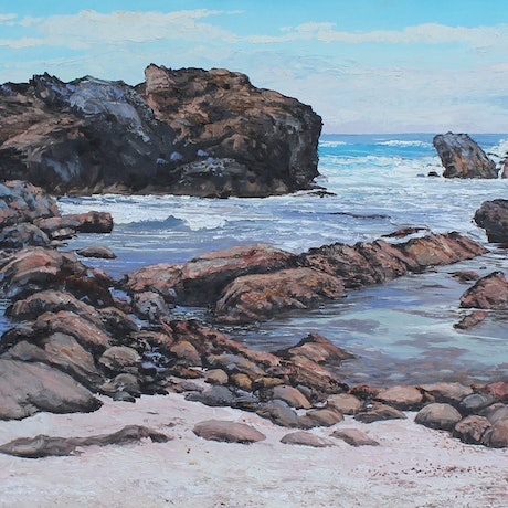 (CreativeWork) THE INLET-SOUTH COAST NSW by Margaret HADFIELD. Oil Paint. Shop online at Bluethumb.