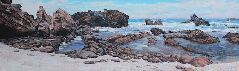 (CreativeWork) THE INLET-SOUTH COAST NSW by Margaret HADFIELD. oil-painting. Shop online at Bluethumb.
