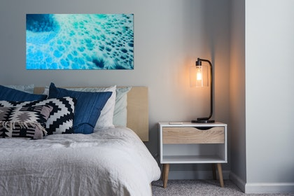 (CreativeWork) BLUE CRUSH - ACRYLIC PRINT  Ed. 1 of 10 by Deborah O'Loughlin. print. Shop online at Bluethumb.