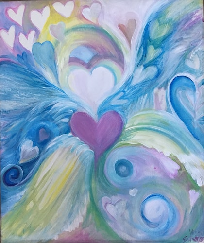 (CreativeWork) Harmony by Sharon Weir. arcylic-painting. Shop online at Bluethumb.