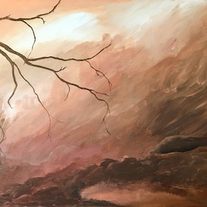 (CreativeWork) Mists Of Time by Karen Pillay. arcylic-painting. Shop online at Bluethumb.