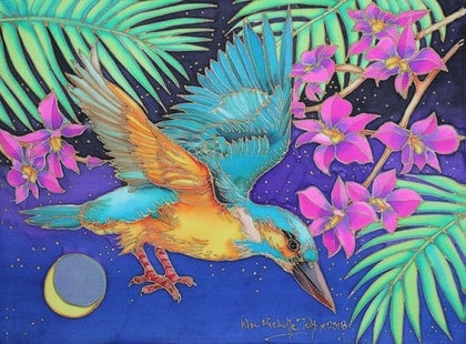 (CreativeWork) Kingfishers Flight by Kim Michelle Toft. other-media. Shop online at Bluethumb.