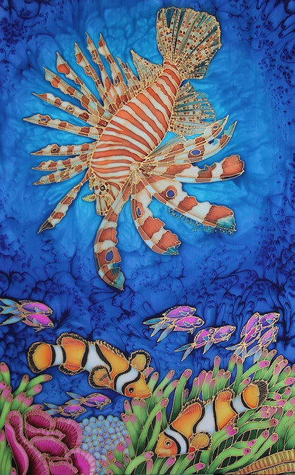 (CreativeWork) Lionfish Over Clownfish by Kim Michelle Toft. other-media. Shop online at Bluethumb.