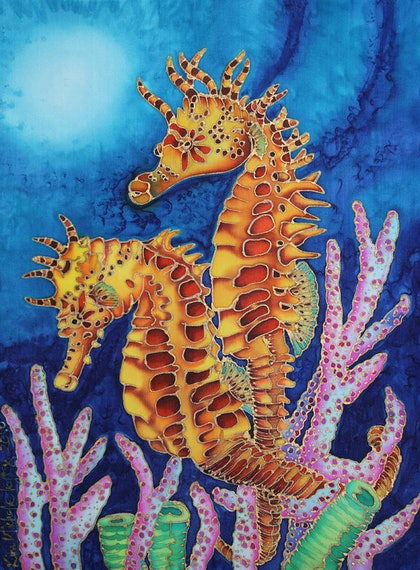 (CreativeWork) Seahorse Soulmates by Kim Michelle Toft. other-media. Shop online at Bluethumb.