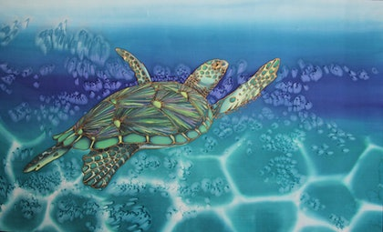 (CreativeWork) Green Sea Traveller by Kim Michelle Toft. other-media. Shop online at Bluethumb.