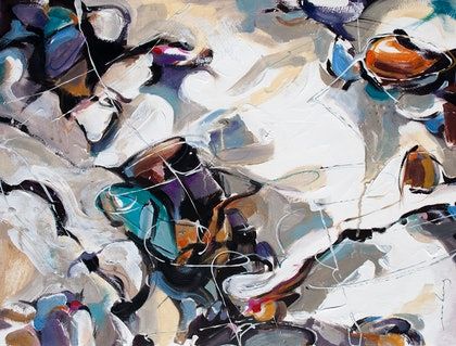 (CreativeWork) Harbour View Abstract3 by Soo Beng Lim. mixed-media. Shop online at Bluethumb.