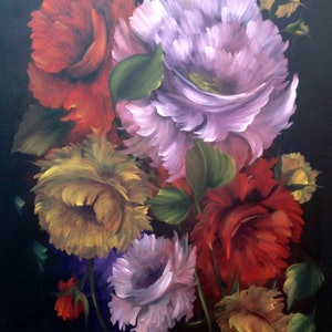(CreativeWork) Scent of Roses by Michael Giddens. oil-painting. Shop online at Bluethumb.