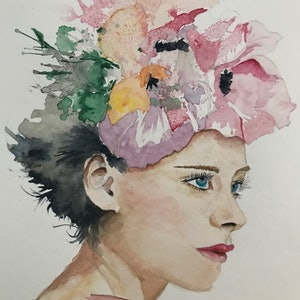 (CreativeWork) Race Day. by Cathy Raso. watercolour. Shop online at Bluethumb.