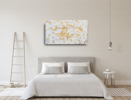 (CreativeWork) Anatomic Flux I, large original painting, 122cm x 71cm by Jacquelyn Stephens. Mixed Media. Shop online at Bluethumb.