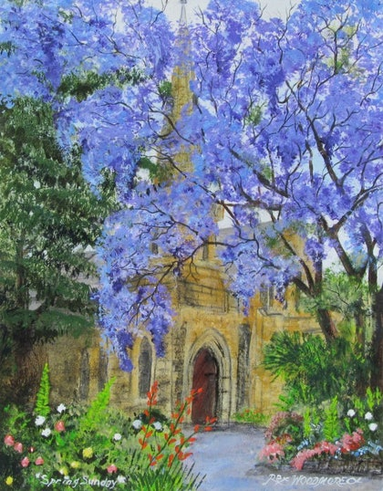 (CreativeWork) Spring Sunday by Rex Woodmore. arcylic-painting. Shop online at Bluethumb.