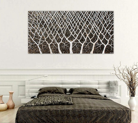 (CreativeWork) Tree Branches - Abstract textural Trees by Miranda Lloyd. Other Media. Shop online at Bluethumb.