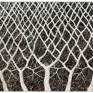 (CreativeWork) Tree Branches - Abstract textural Trees by Miranda Lloyd. other-media. Shop online at Bluethumb.