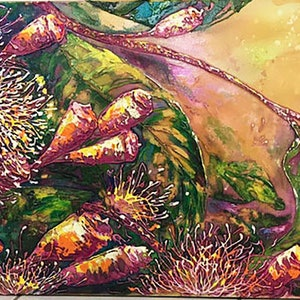 (CreativeWork) Autumn In The Bush by VonnyK  (Yvonne) Kennedy. arcylic-painting. Shop online at Bluethumb.