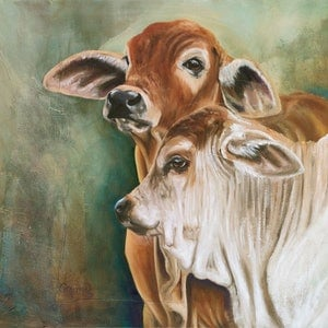 (CreativeWork) Baby Bovine Buddies by Catherine Clark Dowden. #<Filter:0x00007fcb1ad98400>. Shop online at Bluethumb.
