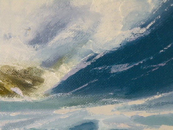 (CreativeWork) Green Wave 8 by Colin Madgwick. Oil Paint. Shop online at Bluethumb.