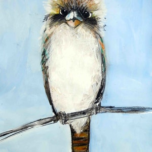 (CreativeWork) Kookaburra  by John Graham. mixed-media. Shop online at Bluethumb.