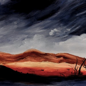 (CreativeWork) Sky Drama by Doodie Herman. arcylic-painting. Shop online at Bluethumb.