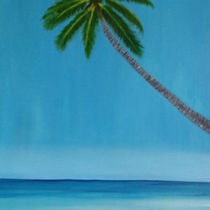 (CreativeWork) The beach  by Ayomi Melanie. oil-painting. Shop online at Bluethumb.