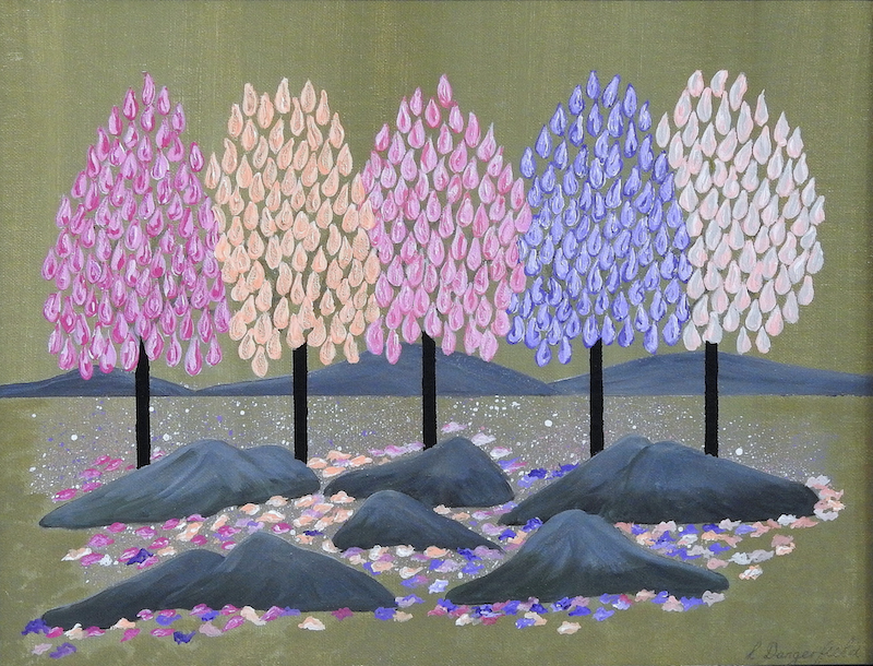 (CreativeWork) SPRING ~ SPRING by Lisa Dangerfield. acrylic-painting. Shop online at Bluethumb.