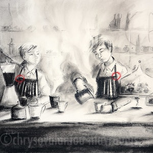 "(CreativeWork) ""MY USUAL PLEASE..."" by Chrysovalantou Mavroudis. drawing. Shop online at Bluethumb."
