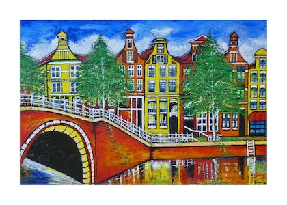 (CreativeWork) Amsterdam Reflections by Robert Wiezel. mixed-media. Shop online at Bluethumb.