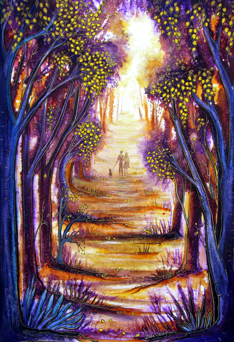 (CreativeWork) Moments in Time by Linda Callaghan. mixed-media. Shop online at Bluethumb.