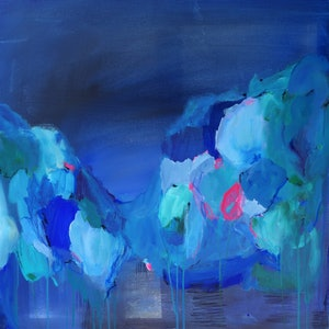 (CreativeWork) Around Midnight by Brenda Meynell. arcylic-painting. Shop online at Bluethumb.