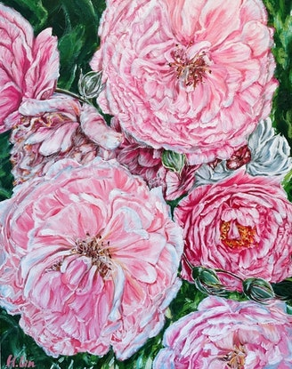 (CreativeWork) CELEBRATIONS - PEONIES GALORE - LIMITED EDITION GICLEE PRINT  Ed. 6 of 100 by HSIN LIN. Print. Shop online at Bluethumb.