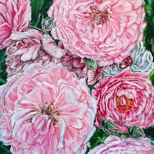 (CreativeWork) CELEBRATIONS - PEONIES GALORE - LIMITED EDITION GICLEE PRINT  Ed. 2 of 100 by HSIN LIN. print. Shop online at Bluethumb.