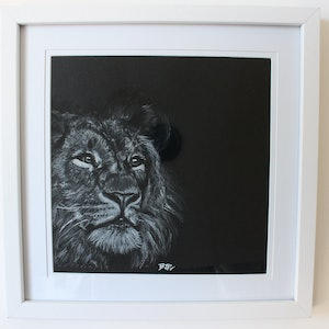 (CreativeWork) The Jungle King by Bjp_ Art. drawing. Shop online at Bluethumb.