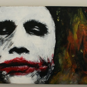 (CreativeWork) The Joker (Skateboard) by Bjp_ Art. arcylic-painting. Shop online at Bluethumb.