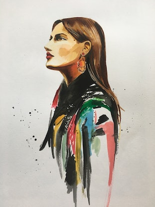 (CreativeWork) Rocky by Nicole Black. Watercolour Paint. Shop online at Bluethumb.