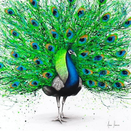 (CreativeWork) Pavo Pthalo - Reserved by Ashvin Harrison. arcylic-painting. Shop online at Bluethumb.