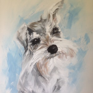 (CreativeWork) Furry Little Face by Lesley Rosochodski. oil-painting. Shop online at Bluethumb.
