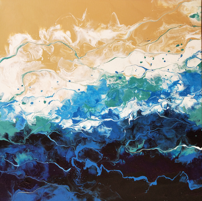 (CreativeWork) Coastal Sands by Amy Basnett. Acrylic Paint. Shop online at Bluethumb.