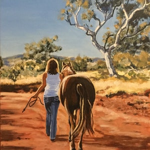 (CreativeWork) The Long Road Home by Robyn Gray. arcylic-painting. Shop online at Bluethumb.