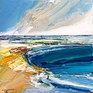 (CreativeWork) Cronulla by Katie Wyatt. arcylic-painting. Shop online at Bluethumb.