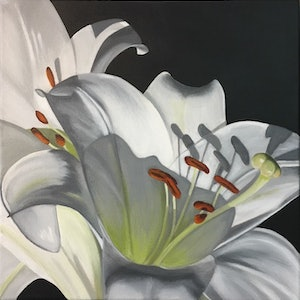(CreativeWork) LILY #3 by Patricia Hillard. arcylic-painting. Shop online at Bluethumb.